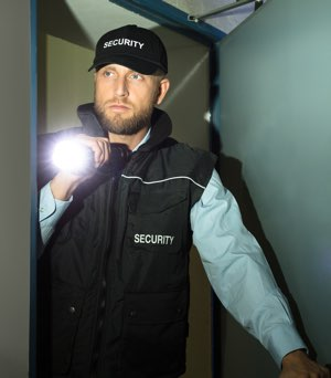 We supply uniformed security guards